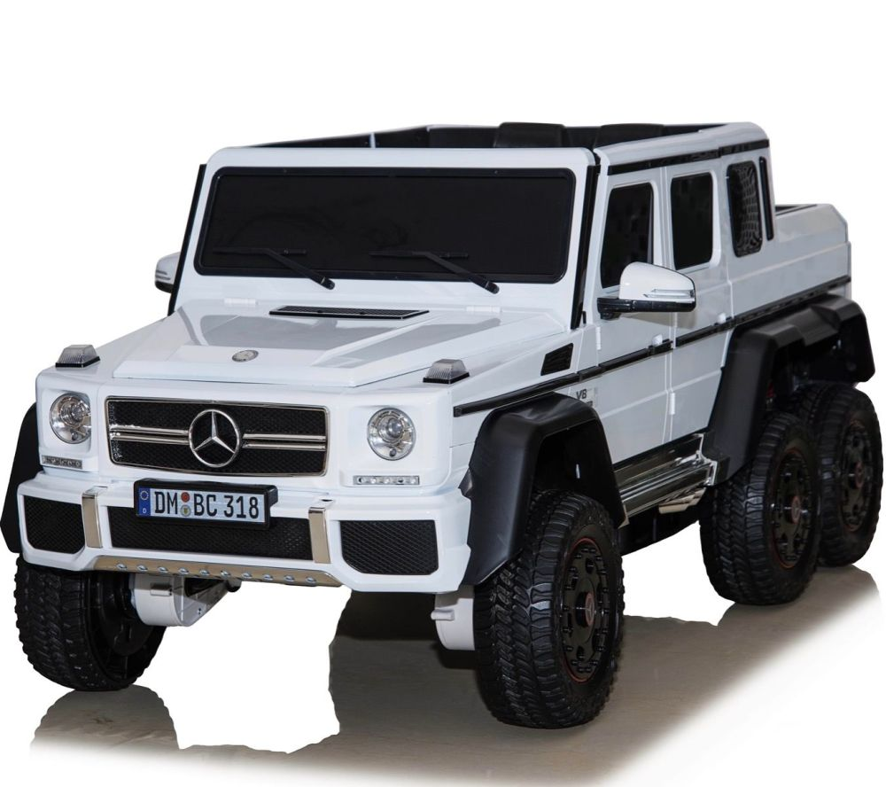 medium resolution of licensed mercedes benz g63 6x6 24v ride on electric jeep white for just 269 95 outdoor toys