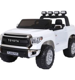 licensed toyota hilux 12v ride on children s electric jeep pickup white [ 1200 x 1200 Pixel ]