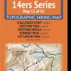 14ers Map Series 12 of 16 - Challenger, Crestone, Crestone Needle, Humboldt, Kit Carson Cover