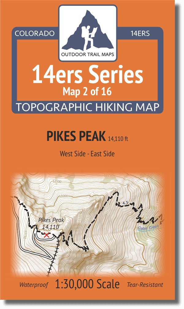 14ers Map Series 2 of 16 Pikes Peak Cover