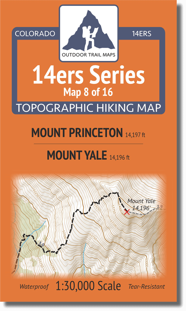 14ers Map Series 8 of 16 Princeton Yale Cover