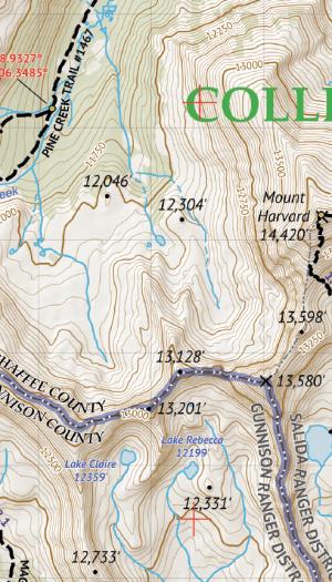 Crop of Collegiate Peaks Wilderness 1