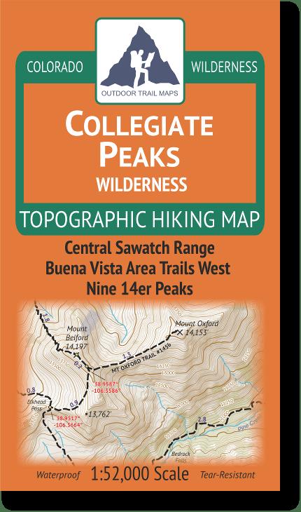 Collegiate Peaks Wilderness Map Cover
