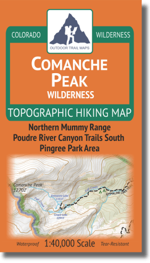 Cover of Comanche Peak Wilderness Hiking Map