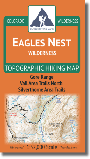 Cover of Eagles Nest Wilderness Hiking Map