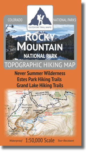 Rocky Mountain National Park Hiking Map Cover