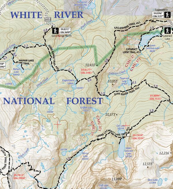 Eagles Nest Wilderness Map Crop 2