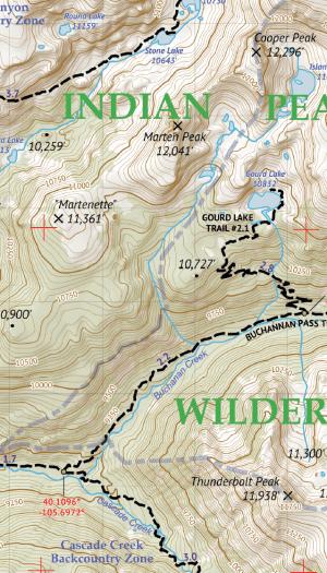 Indian Peaks Wilderness / James Peak Wilderness Crop 2