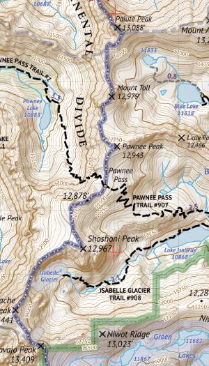 Indian Peaks Wilderness / James Peak Wilderness Crop 3