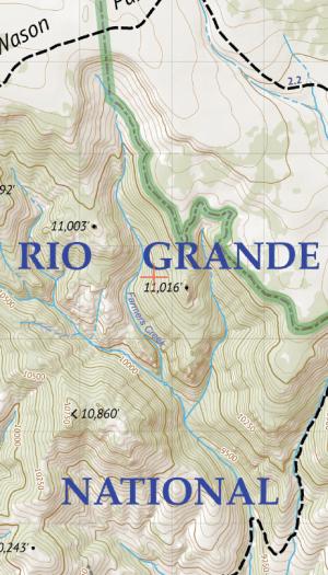 La Garita Wilderness Map Crop 3