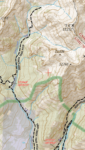 Lizard Head Wilderness / Mount Sneffels Wilderness Crop 1