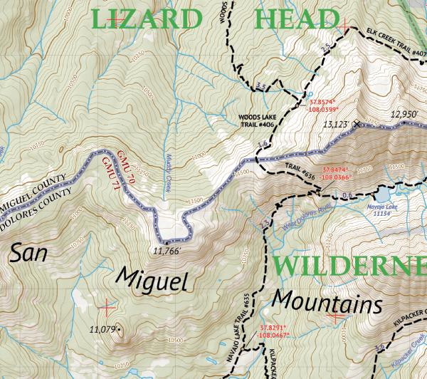 Lizard Head Wilderness / Mount Sneffels Wilderness Crop 3