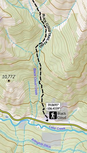 Crop of 14ers Series Map 6 of 16