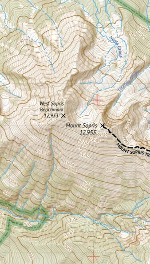 Maoon Bells - Snowmass Wilderness Map Crop 1