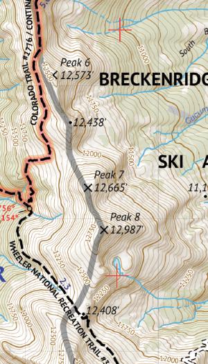 Mosquito-Tenmile Range Hiking Map Crop 1