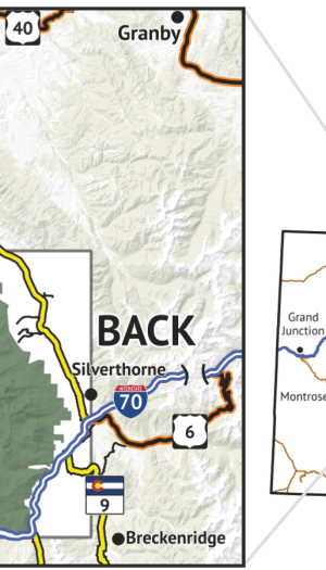 Location overview of Eagles Nest Wilderness Map