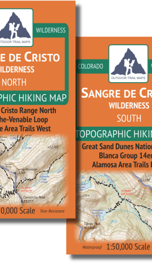 Covers of the Sangre de Cristo Wilderness Map Pack