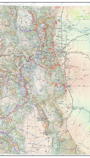 The Hiker's Map of Colorado Wall Poster Map
