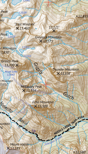 Weminuche Wilderness West Map Crop 1