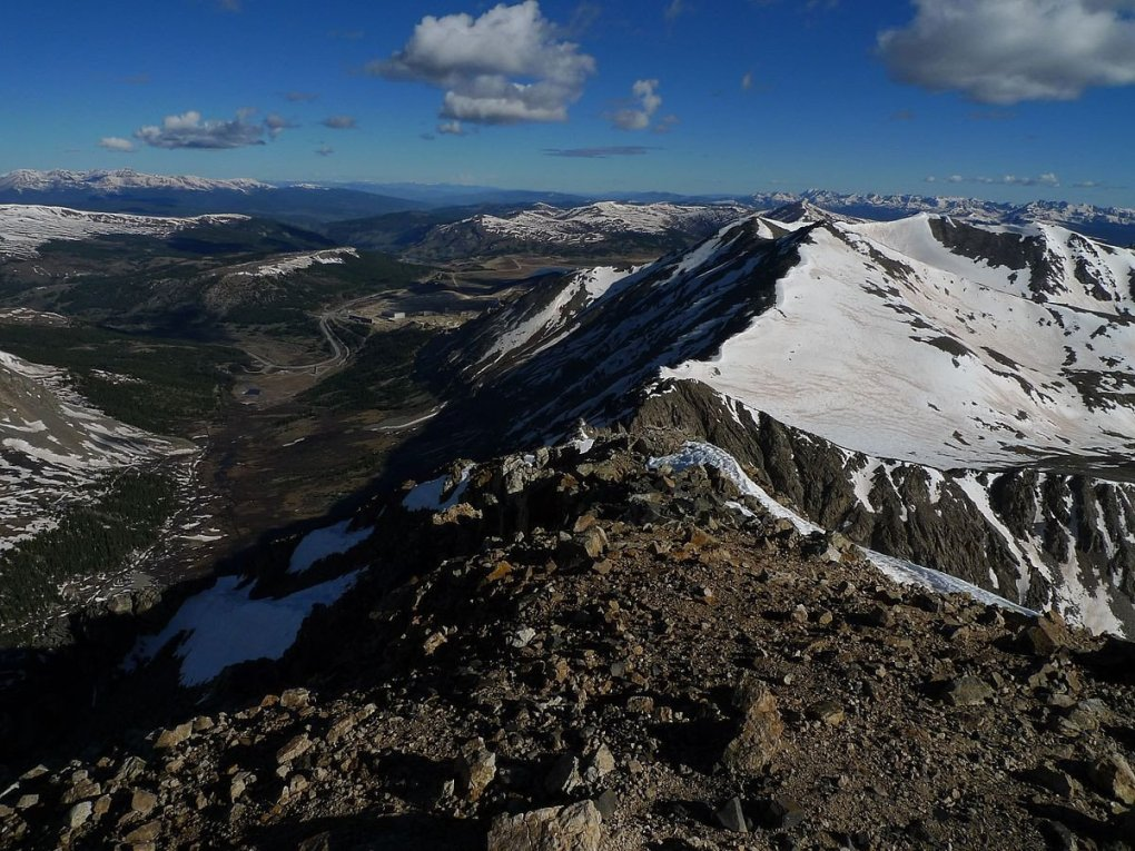 View from Mount Democrat towards Climax Mine