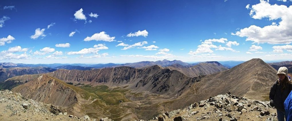 Main View from the summit of Torreys Peak
