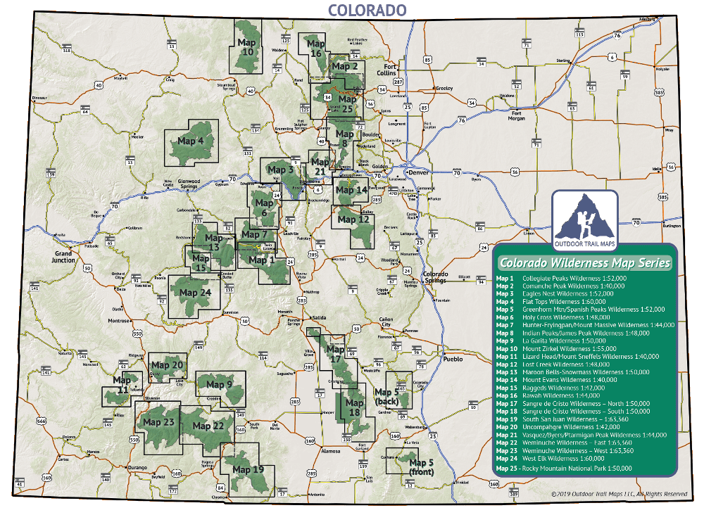 Smaller Wilderness Series Map Extents Overview