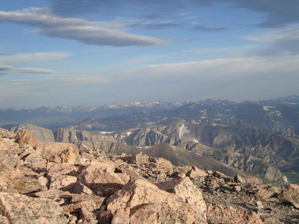 View from Longs Peak summit