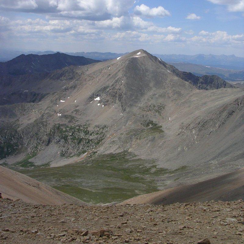View of Mount Democrat from Mount Bross
