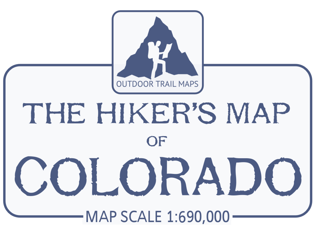 Hikers Map of Colorado Title Box