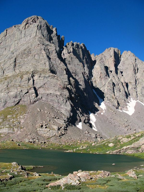 Crestone Needle from Lower South Colony Lake