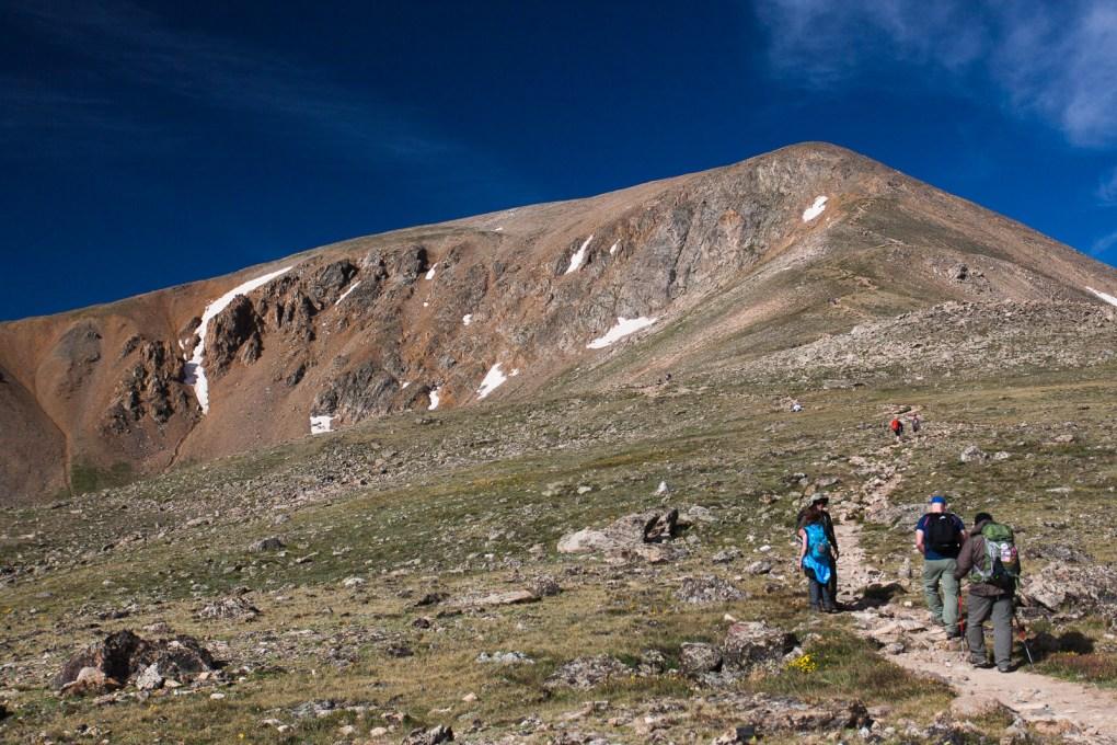 Trail leading up Mount Elbert