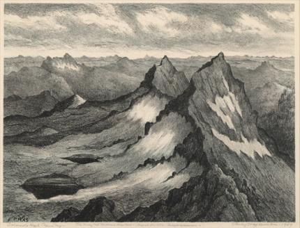 Colorado High Country - lithograph by Percy Hagerman, 1950