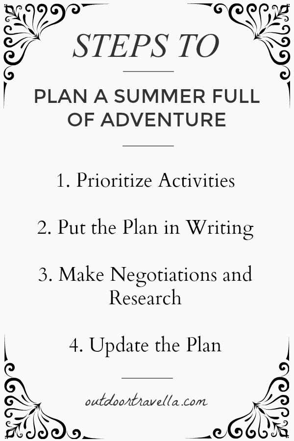 Steps to Plan a Summer Full of Adventure