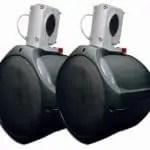 MCM Custom Audio 60-10031 Black Marine Wakeboard Two-Way Speakers