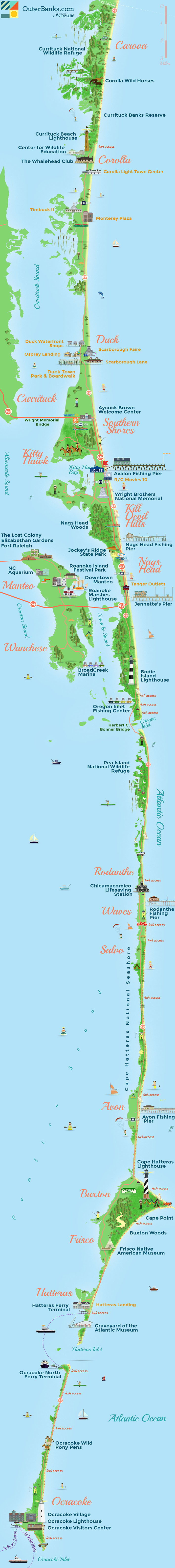 hight resolution of outer banks map