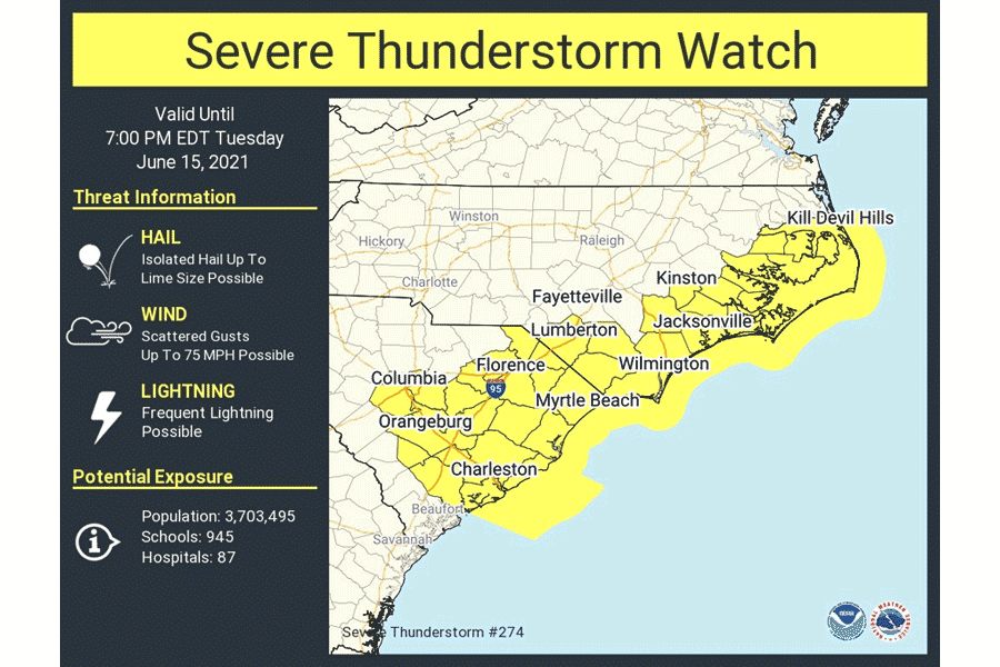 Severe Thunderstorm Watch has ended
