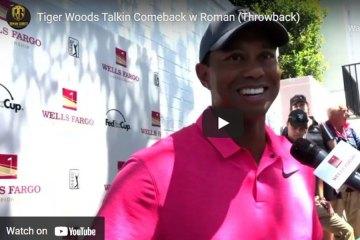 Tiger Woods Talkin Comeback w Roman (Throwback)