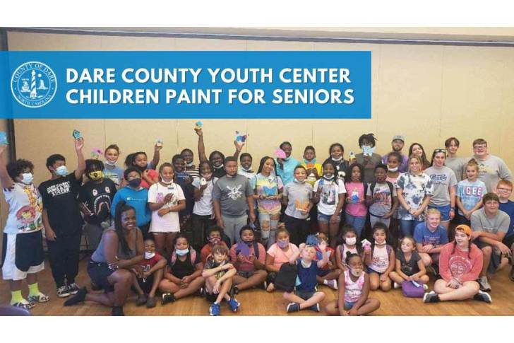 Dare County Youth Center children paint for seniors