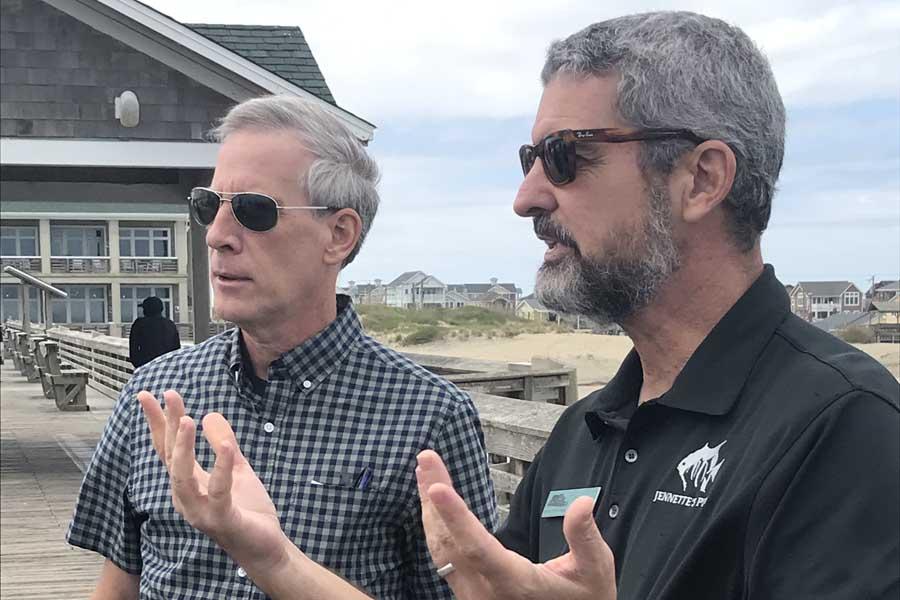 DNCR Secretary Reid Wilson tours Outer Banks
