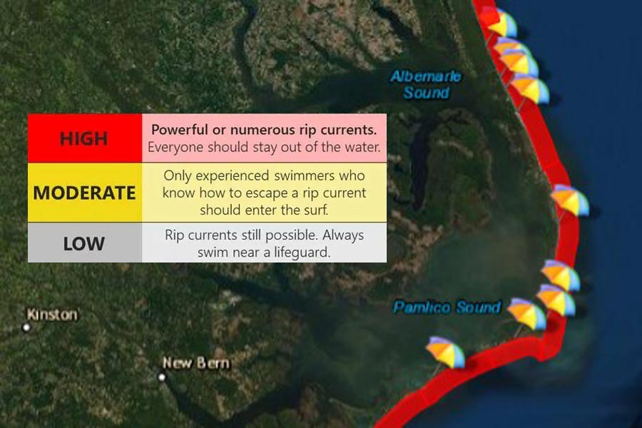 High rip current risk continues at all area beaches
