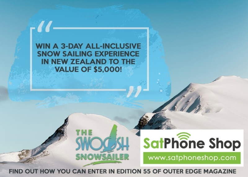 Win a three day snow sailing adventure in New Zealand.