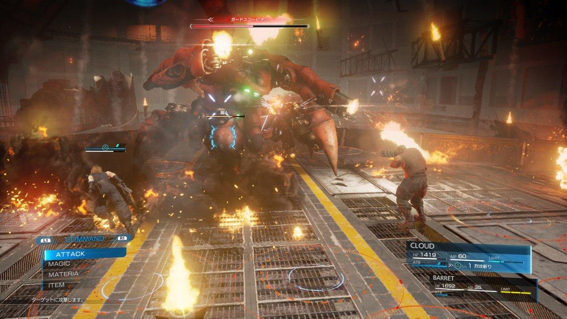 Resultado de imagem para final fantasy vii remake battles