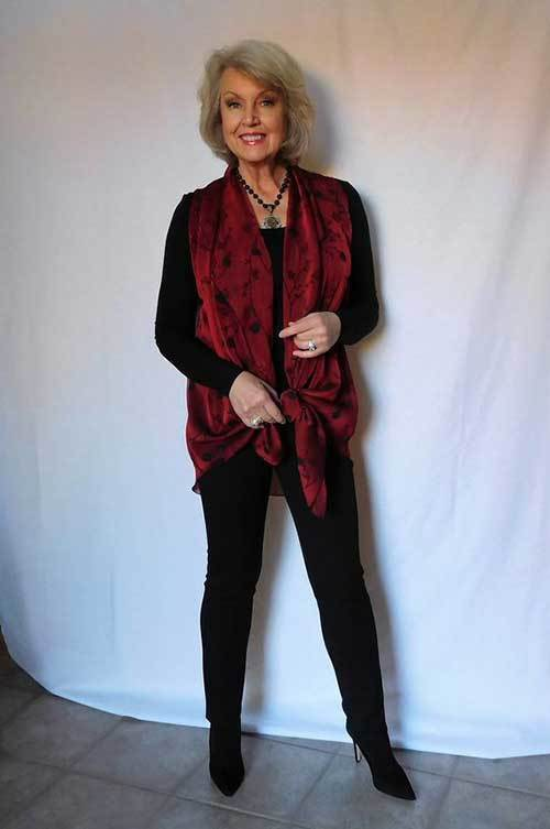 chic mature lady fashion