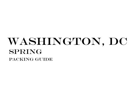 What to Wear to Washington, DC in the Spring
