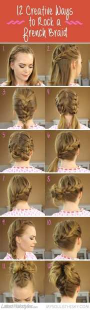 cute and easy braided hairstyle