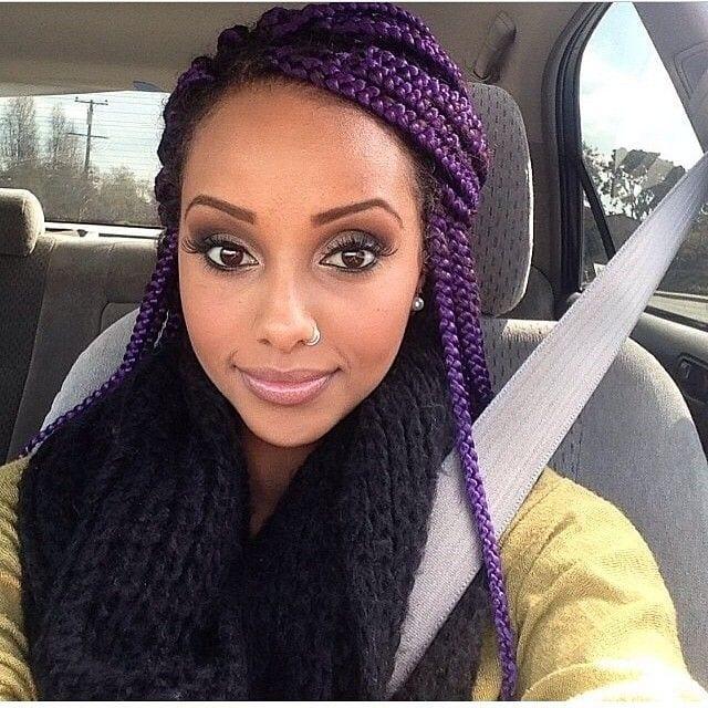 Top 13 Cute Purple Hairstyles For Black Girls This Season