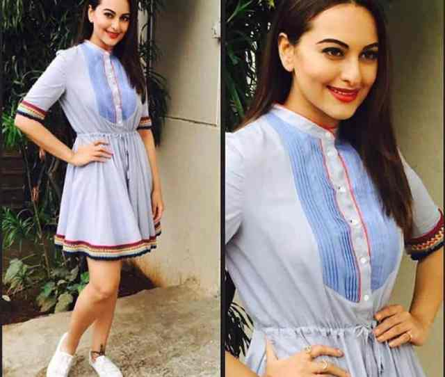 First Off We Have Sonakshi Sinha In A Tommy Hilfiger Dress Which Gave Off Some Bohemian Vibes Its A Fresh And Casual Look For Summers