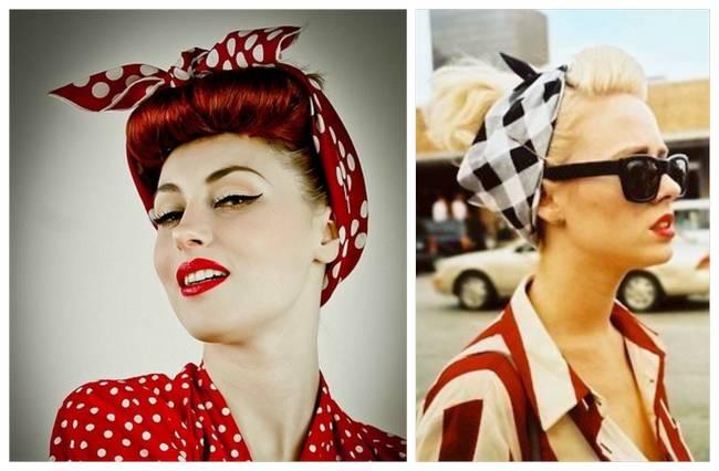 1950s Hairstyles Bandana Pin