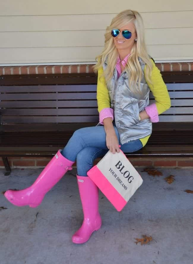 Outfits With Bunter Boots 20 Ways To Wear Hunter Boots