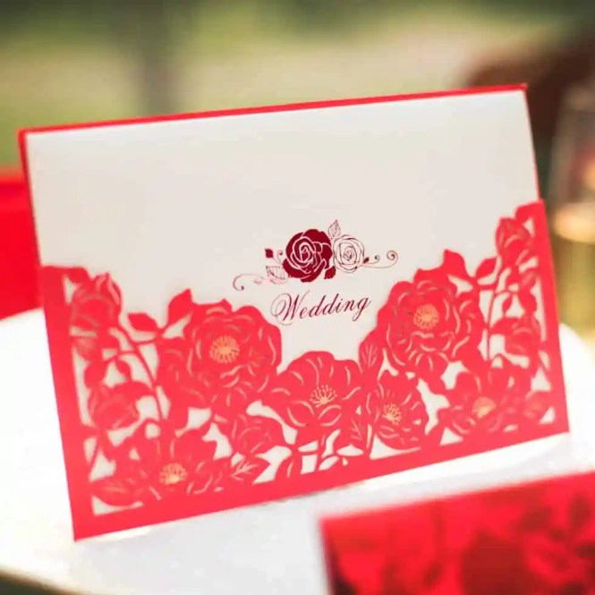 wedding invitation cost inc084laser cut luxurious